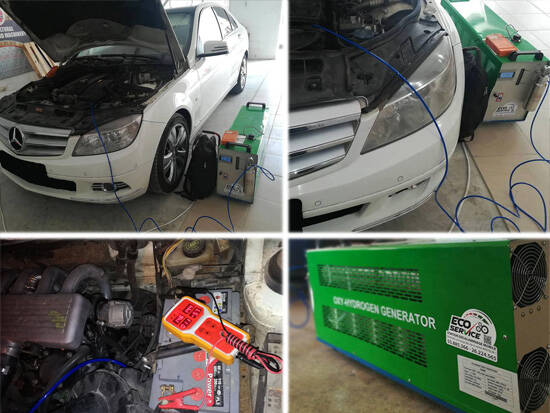 hho gas car engine carbon cleaning machine